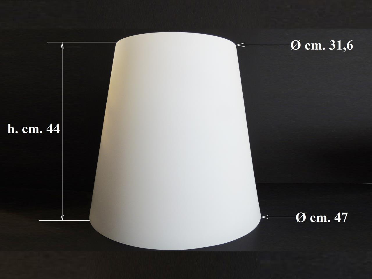 Vetri di ricambio per lampadari: Paralume in vetro bianco per ...
