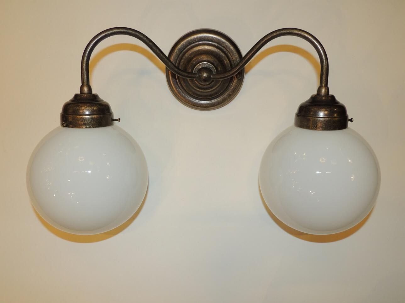 Lampade a parete applique doppia sfera rossi illuminazione vicenza