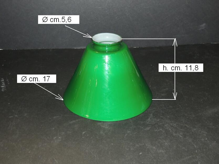 Green Glass Lampshade Desk Lamp Big