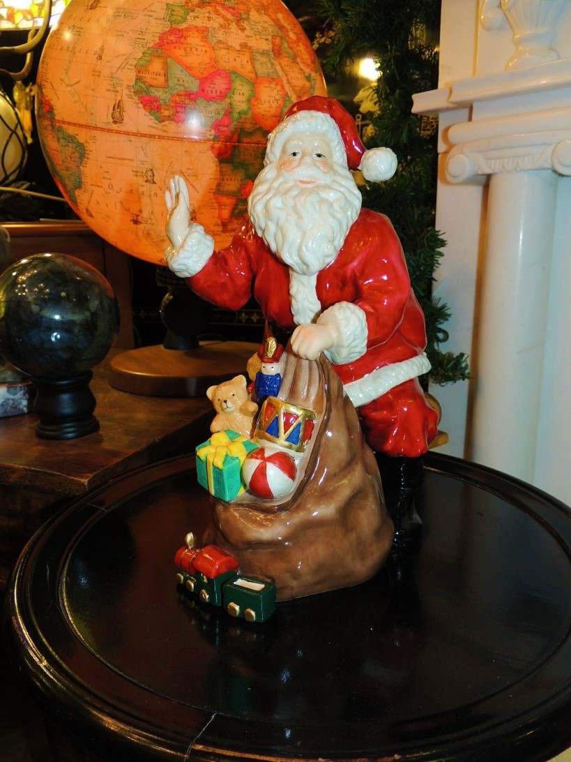 Lampade di Natale: Babbo Natale in Porcellana Con regali