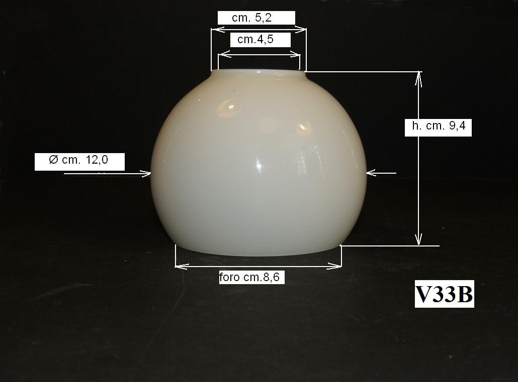 Vetri di ricambio per lampadari sfere in vetro opalino for Rossi lampadari
