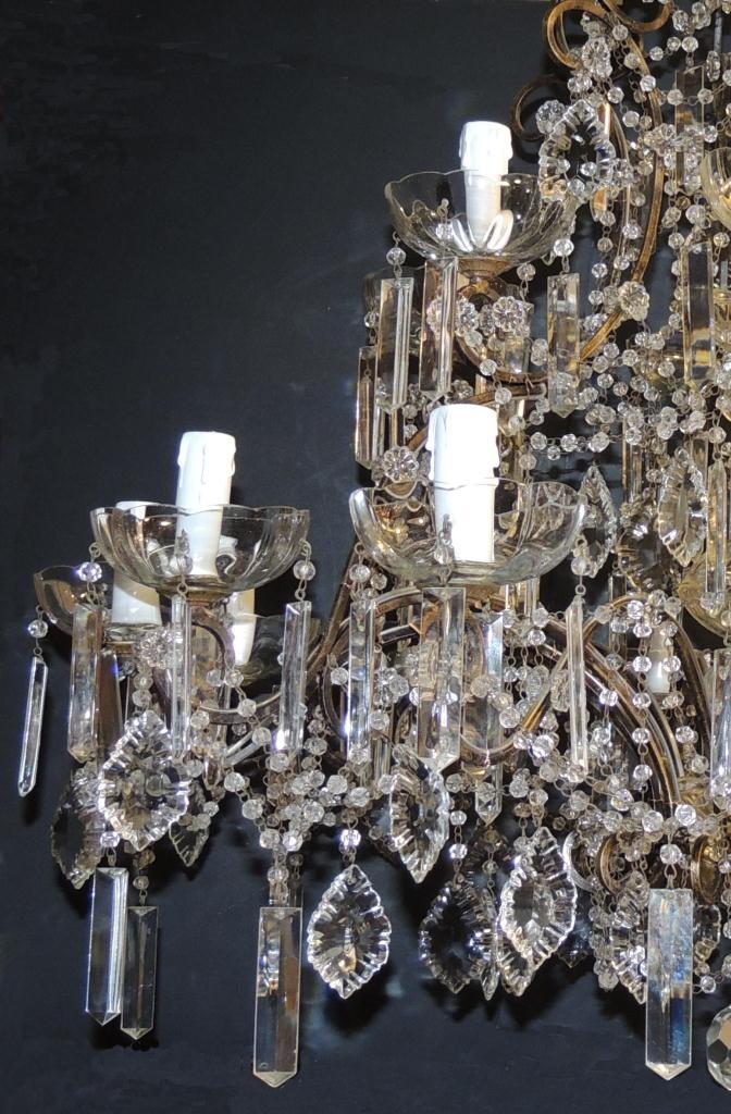 Restauro lampadari: Lampadario a gocce prima e dopo. Rossi ...